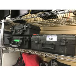 LOT OF ASSORTED EQUIPMENT CASES