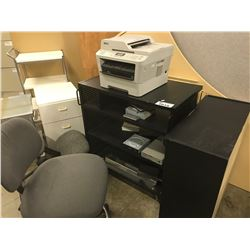 LOT OF MISC. UTILITY TABLES, OFFICE CHAIRS, MISC. ELECTRONICS AND MORE CONDITION UNKNOWN