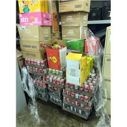 PALLET OF ASSORTED SNACKS AND DRINKS