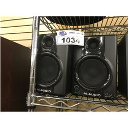 PAIR OF M-AUDIO AV 40 SPEAKERS