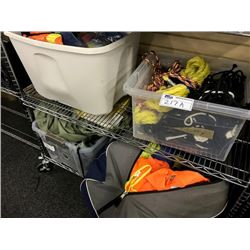 LOT OF SAFETY EQUIPMENT AND SET DEC APPAREL