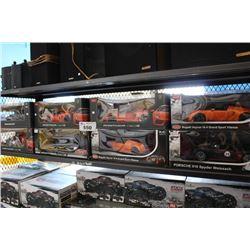 SHELF LOT OF RC SPORTS CARS