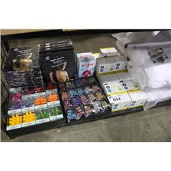 SHELF LOT INCLUDING TEMPORARY TATTOOS, CERAMIC OIL DIFFUSERS, KUDDLE KRITTERZ PILLOWS AND MORE