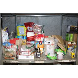 SHELF LOT INCLUDING FOOD, TOILETRIES AND MORE