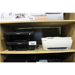 TWO CANON PRINTERS AND HP DESKSET 3630 PRINTER
