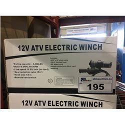 12 VOLT ATV ELECTRIC WINCH