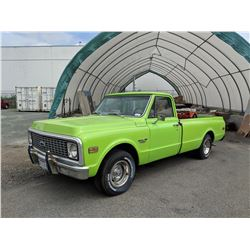 """1971 CHEVROLET """"CUSTOM 10"""" GAS, AUTOMATIC, VIN#CE1411621044, TMU, APPRAISAL FOR $15,000 INCLUDED,"""