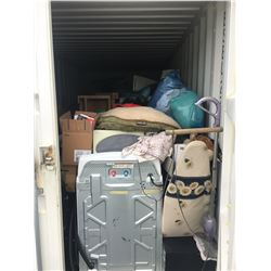 CONTENTS OF BIG STEEL BOX 20 FT SEA CONTAINER - $200 DEPOSIT REQUIRED AT PURCHASE, RETURNED WHEN CON