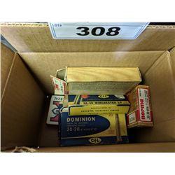 BOX OF MISC. AMMUNITION