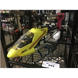 LARGE HITEC GAS POWERED RC HELICOPTER - APPROX 4 FT