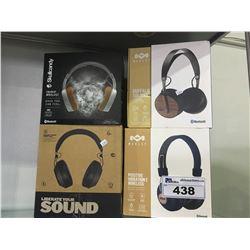 ASSORTED OVER EAR HEADPHONES
