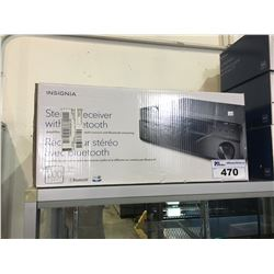 INSIGNIA STEREO RECEIVER WITH BLUETOOTH