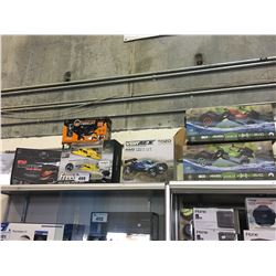 ASSORTED RC CARS, BOATS, HELICOPTERS