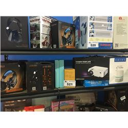 ASSORTED HEADPHONES, PROJECTOR, AIR PURIFIER & MORE