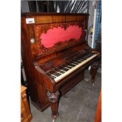 WOOD & CO. EDINBURGH UPRIGHT ROSEWOOD PIANO