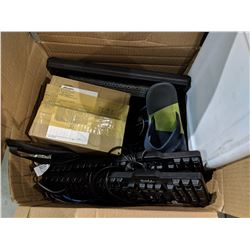 BOX OF COMPUTER EQUIPMENT AND MORE