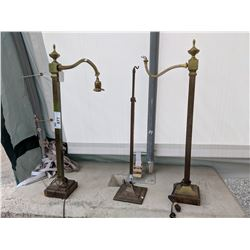 THREE LAMP STANDS