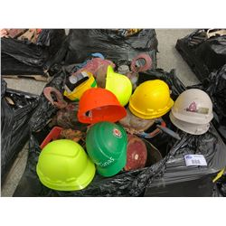 PALLET OF HARD HATS, CHAIN HOISTS AND MORE
