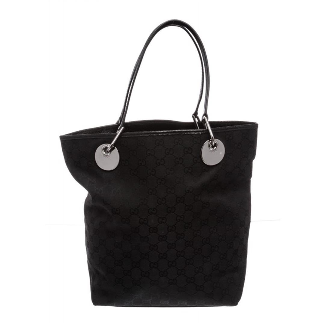 a03530de34caa5 Image 1 : Gucci Black Monogram Canvas Leather Eclipse Tote Bag ...