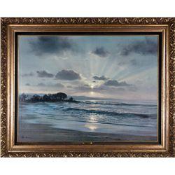 """Twilight Surf"" by Peter Ellenshaw"