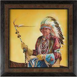 """Crow Fair Elder"" by Nancy Dunlop Cawdrey"
