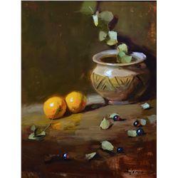 Southwest Pot and Oranges  by Kelli Folsom
