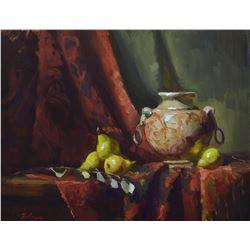 Handled Urn and Pears  by Kelli Folsom
