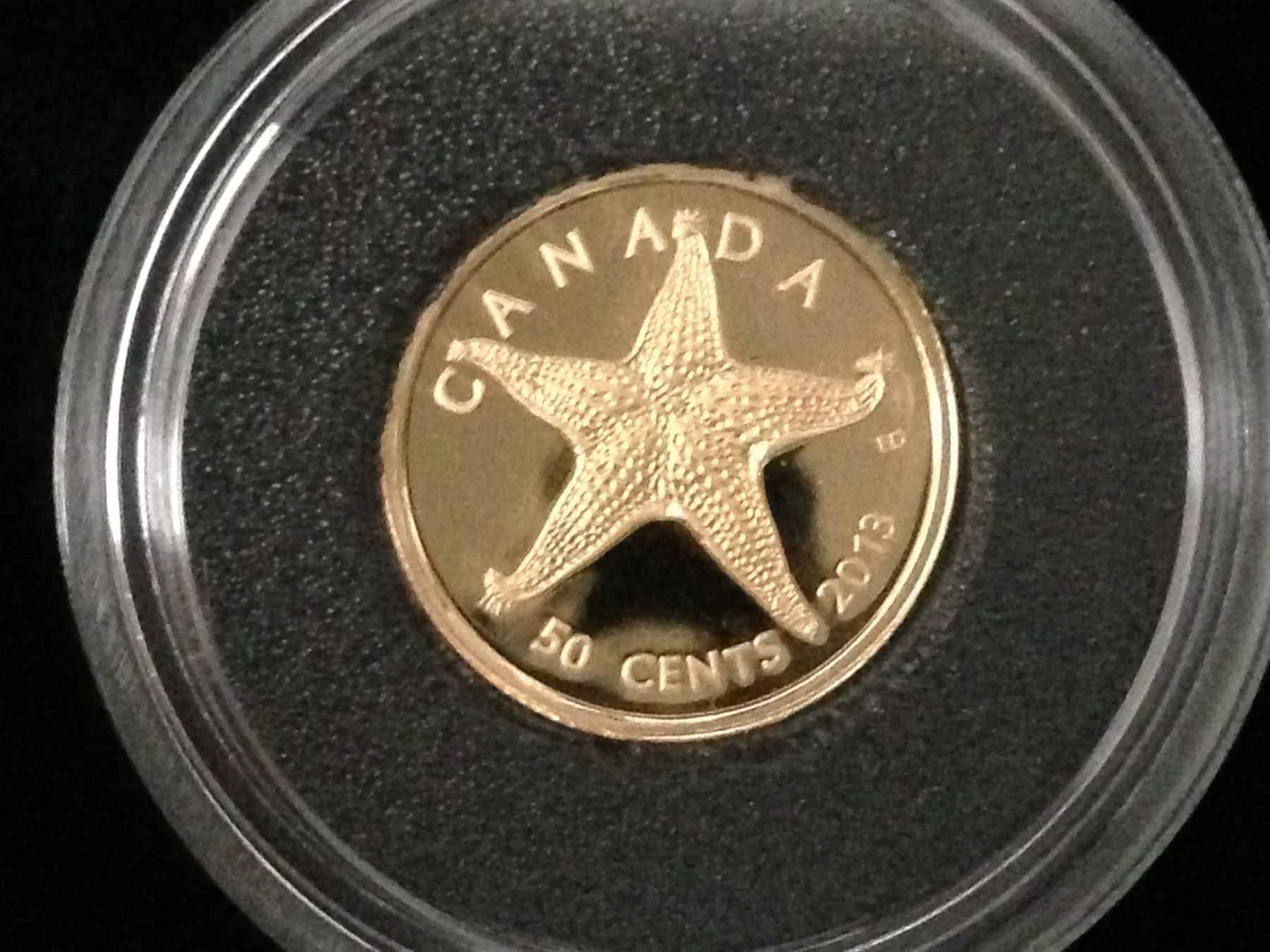 2013 Sea Creatures Gold Coin Starfish