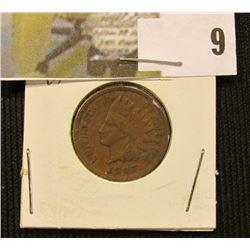 1907  U.S. Indian Head Cent, F-VF.
