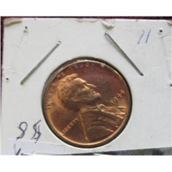 1944 P Lincoln Cent, mostly Red BU.
