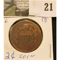 1864 U.S. Two Cent Piece.