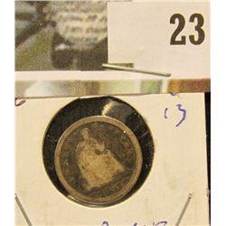 1853 U.S. Seated Liberty Silver Half Dime. Good.