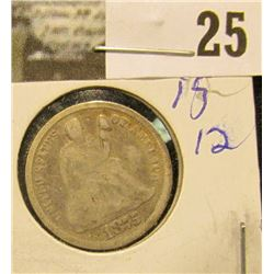 1875 P U.S. Seated Liberty Silver Dime.