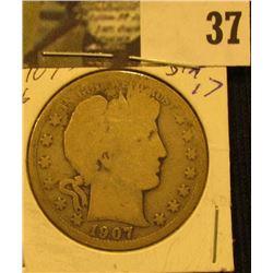 1907 D U.S. Barber Half Dollar.