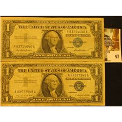 Series 1957 & Series 1957A U.S. One Dollar Silver Certificate. Circulated.