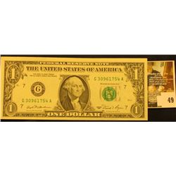 Series 1981 One Dollar Federal Reserve Note, CU.