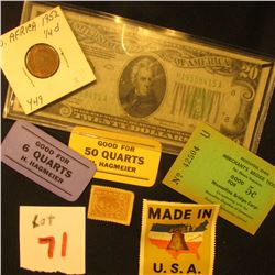 Good For 6 Quarts H. Hagmeier  &  Good For 50 Quarts H. Hagmeier  Keokuk, Iowa Pickers Token Stubs;