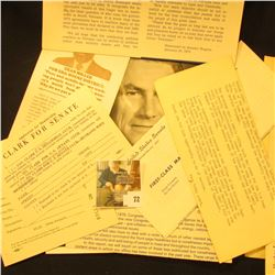 Group of Political memorabilia to the Carberrys from such well known people as John Culver, Dick Mye