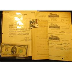 1928 Assignment of Mortgage from Montana; 1965 Letter from John Culver; (3) 1916 era  The Royal Tail