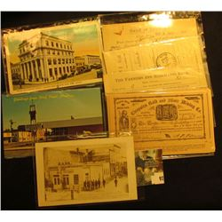 Post Cards dating back to the Civil War: View of Bank Building on Corner and Legislative Hall, the t