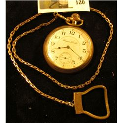 Hampden Watch Co., Canton, OH pocket watch, William McKinley grade, 16s size, serial # 2874004, esti