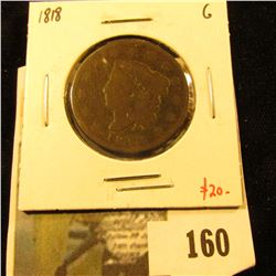 1818 Large Cent, G, value $20