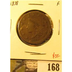 1838 Large Cent, F, value $35