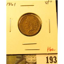 1861 Indian Head Cent, VF+, nice and sharp! Value $60