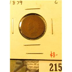 1879 Indian Cent, G, value $8