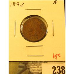 1892 Indian Cent, VF, value $8