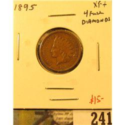 1895 Indian Cent, XF+, 4 full diamonds, value $15