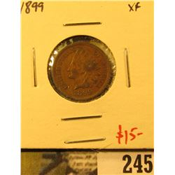 1899 Indian Cent, XF, value $15