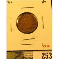 1907 Indian Cent, AU, value $20