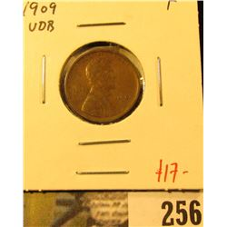 1909 VDB Lincoln Cent, F, value $17